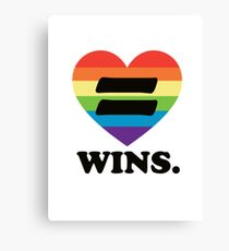 Love Wins. Canvas Print