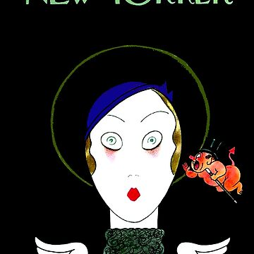 NEW YORKER : Vintage 1933 Angel Magazine Print by posterbobs