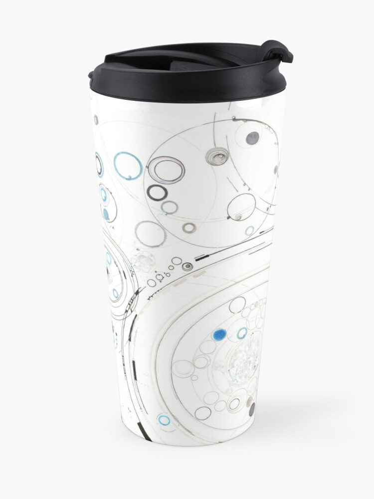 Alternate view of Orbital Mechanics - ink and silverpoint Travel Mug