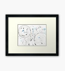 Orbital Mechanics - ink and silverpoint Framed Print