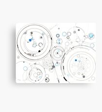 Orbital Mechanics - ink and silverpoint Canvas Print