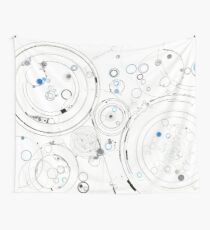 Orbital Mechanics - ink and silverpoint Wall Tapestry