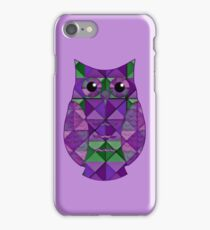 Lilac & Leaf Geometric Owl iPhone Case/Skin