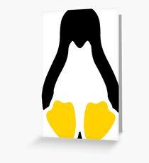Linux tux penguin symbol Greeting Card