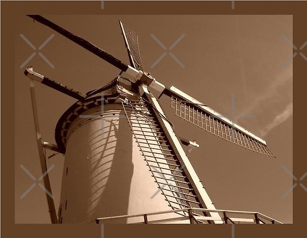 windmill in light by LisaBeth