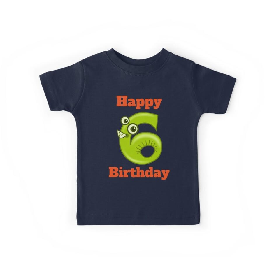Glücklicher 6 Geburtstag Glücklicher 6 Geburtstag Für Jungen Oder