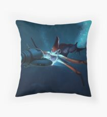 Subnautica - Reaper Leviathan Seamoth Attack Floor Pillow