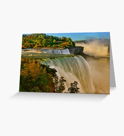 Sunrise Over Niagara - Niagara Falls Greeting Card
