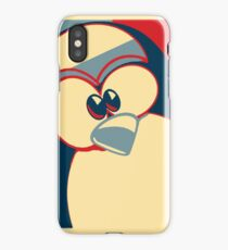 Linux Tux Obama poster red blue  iPhone Case
