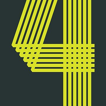 Four (numbers & stripes) by yanmos