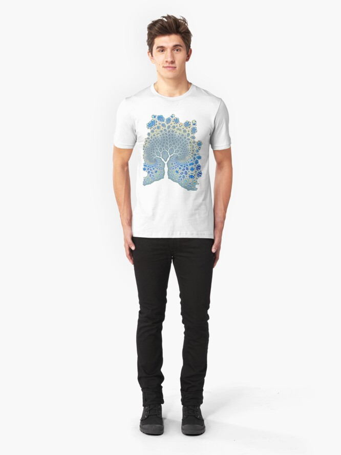 Alternate view of Fractured Tree 2 Slim Fit T-Shirt