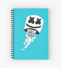 Marshmello gliding Spiral Notebook