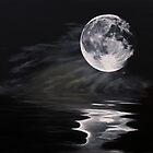 The fullest moon - skyscapes - watersape (ED01) by Elisabeth Dubois