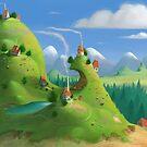Mountain Village by Roman Shipunov