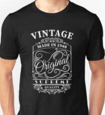 Vintage Made in 1948 Original Supreme Quality Slim Fit T-Shirt