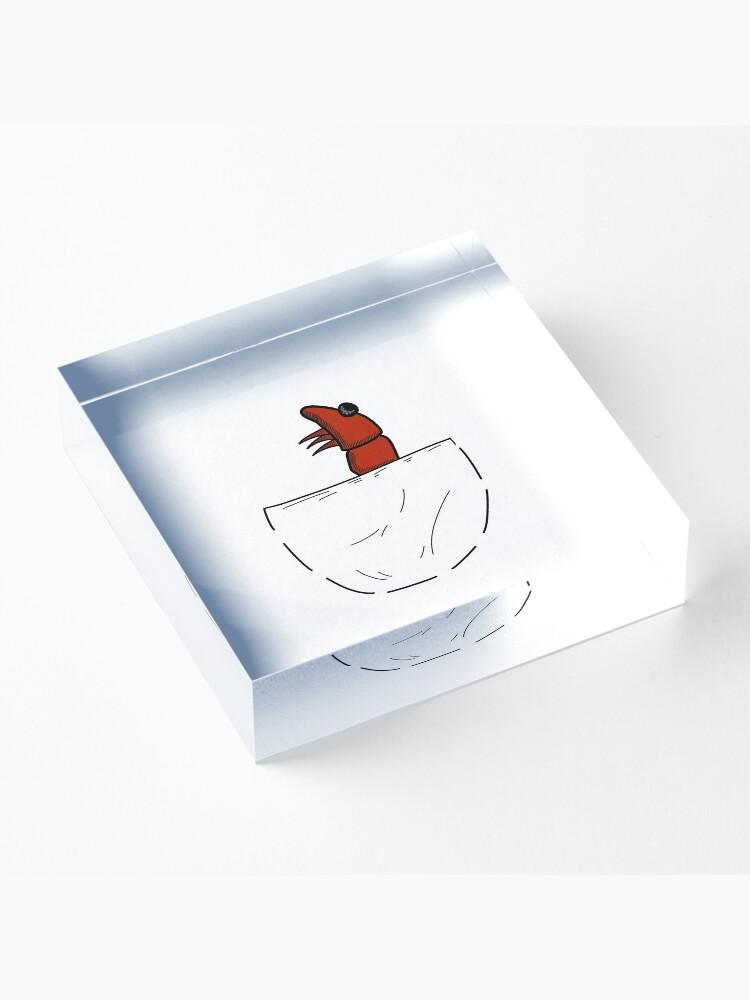 Alternative Ansicht von Der Shrimp in der Tasche Acrylblock
