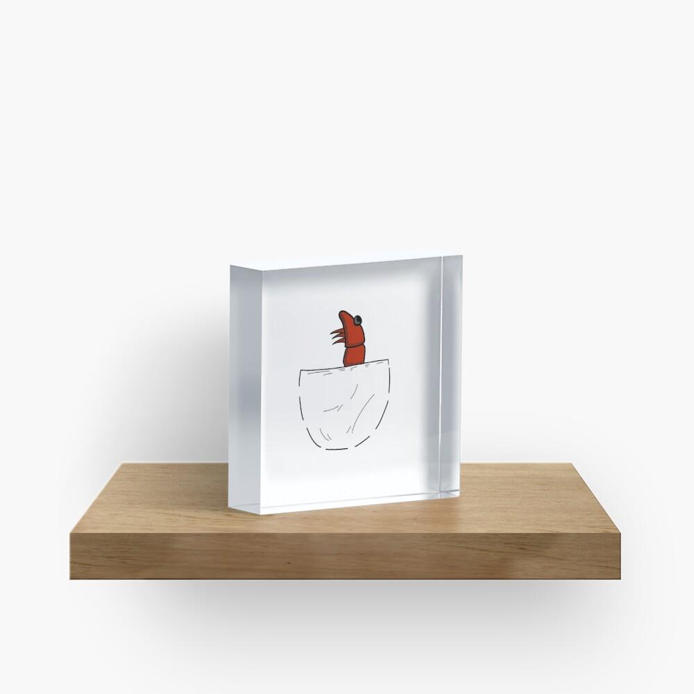 Der Shrimp in der Tasche Acrylblock