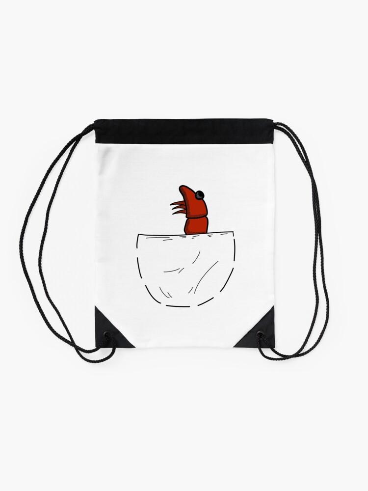 Alternative Ansicht von Der Shrimp in der Tasche Turnbeutel