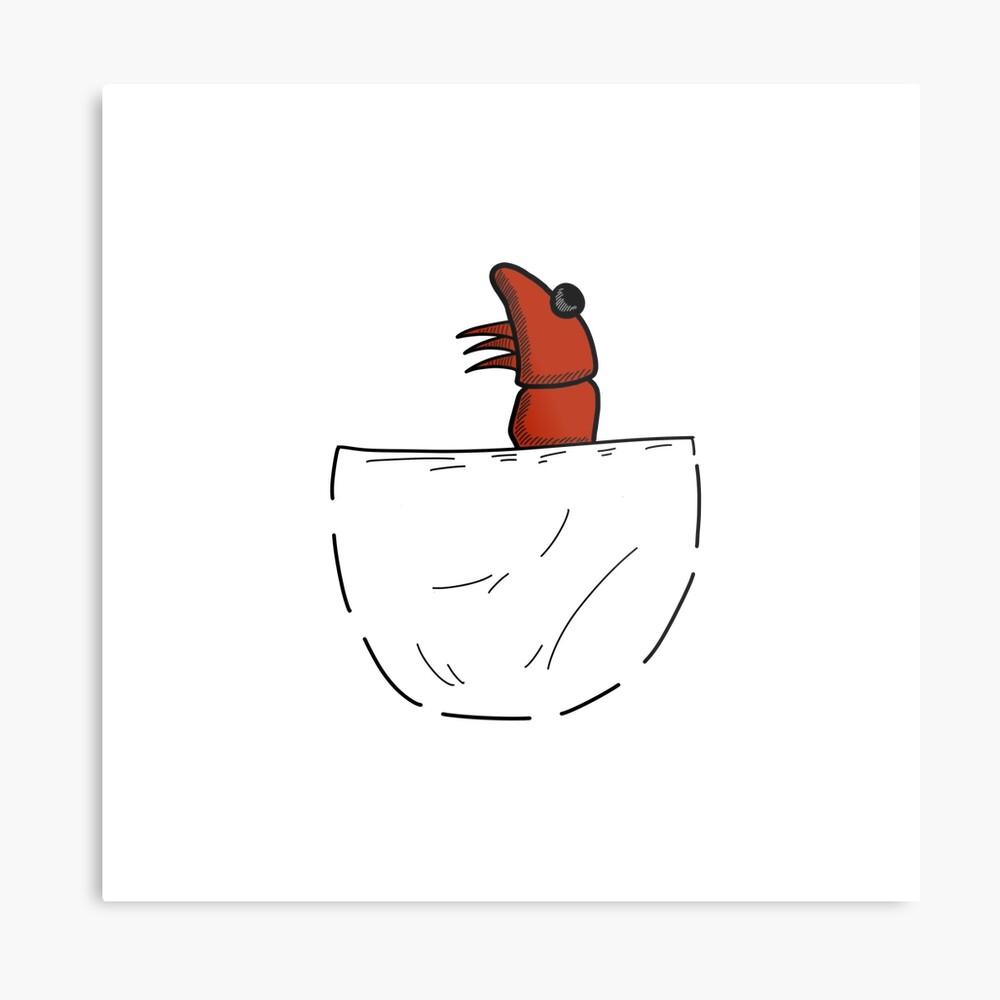 Der Shrimp in der Tasche Metallbild