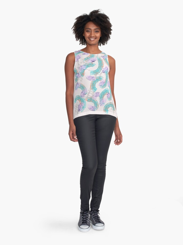 Alternate view of swipes and spots Contrast Tank