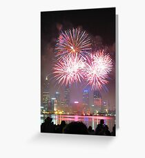 Perth Skyworks Greeting Card