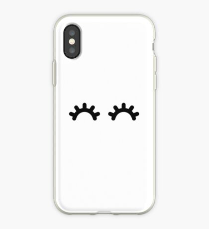 Happy Eyes, Minimal Cute Kawaii Design Vinilo o funda para iPhone