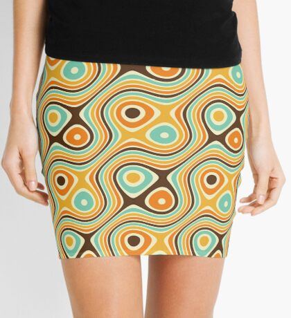 Patrón psicodélico retro Minifalda