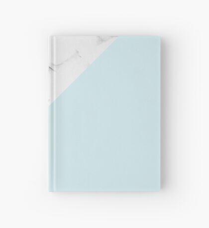 Marble + Blue Pastel Color. Geometría clásica. Cuaderno de tapa dura