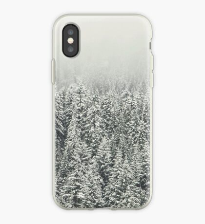 Bosque nevado Vinilo o funda para iPhone