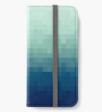 Azul degradado Funda tarjetero para iPhone