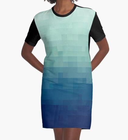 Azul degradado Vestido camiseta