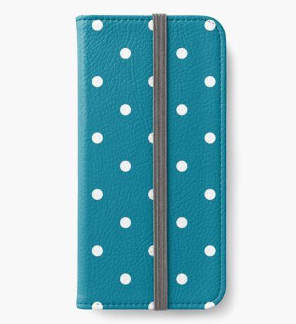 Lunares - Azul Funda tarjetero para iPhone