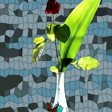 Rose still life 4 by cuprum