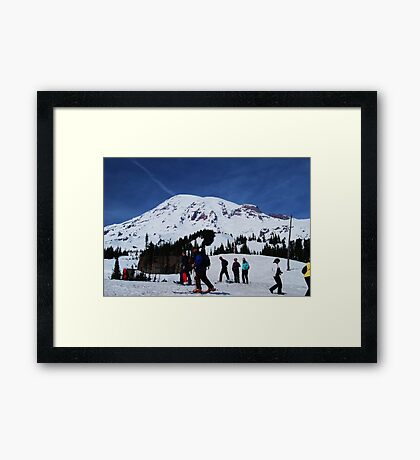 Snowshoes & Skis Framed Print