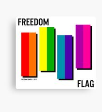 the freedom flag // black Canvas Print