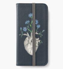 Vinilo o funda para iPhone Corazón Floral: Anatomía Humana Flor de Aciano Día del Padre Regalo