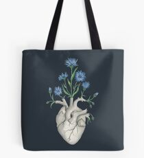 Floral Heart: Human Anatomy Cornflower Mothers Day Gift Tote Bag