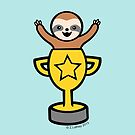Baby Sloth in Winners Cup by zoel