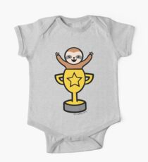 Baby Sloth in Winners Cup One Piece - Short Sleeve