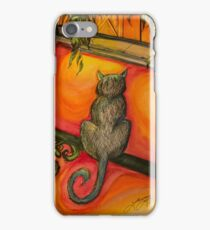 New Orleans Cat on Balcony iPhone Case/Skin