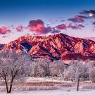Full Moonset Over The Foothills by Gregory J Summers