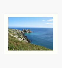 Treen cliffs, near Land's End, Cornwall Art Print