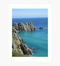 Treen cliffs, Cornwall Art Print