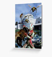 Ultraman vs. the killer bees Greeting Card