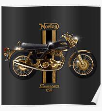 1973 Norton Commando 850 by MotorManiac  Poster