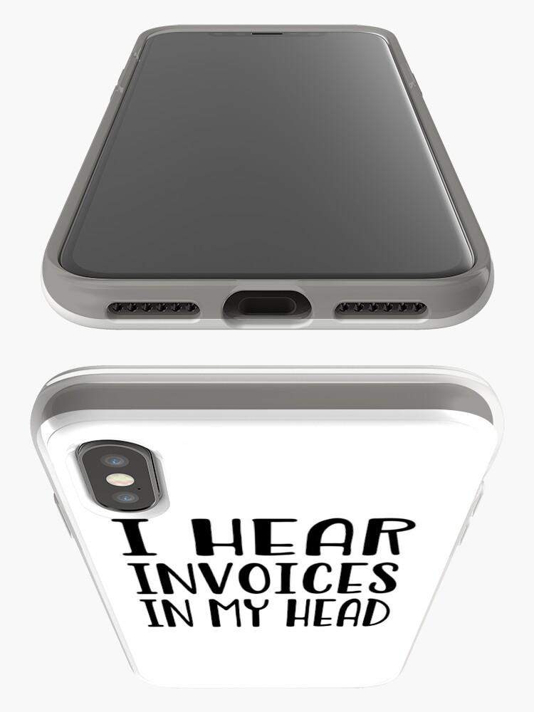 Alternative Ansicht von Ich höre Rechnungen in meinem Kopf - lustiges Rechnungshemd iPhone-Hülle & Cover