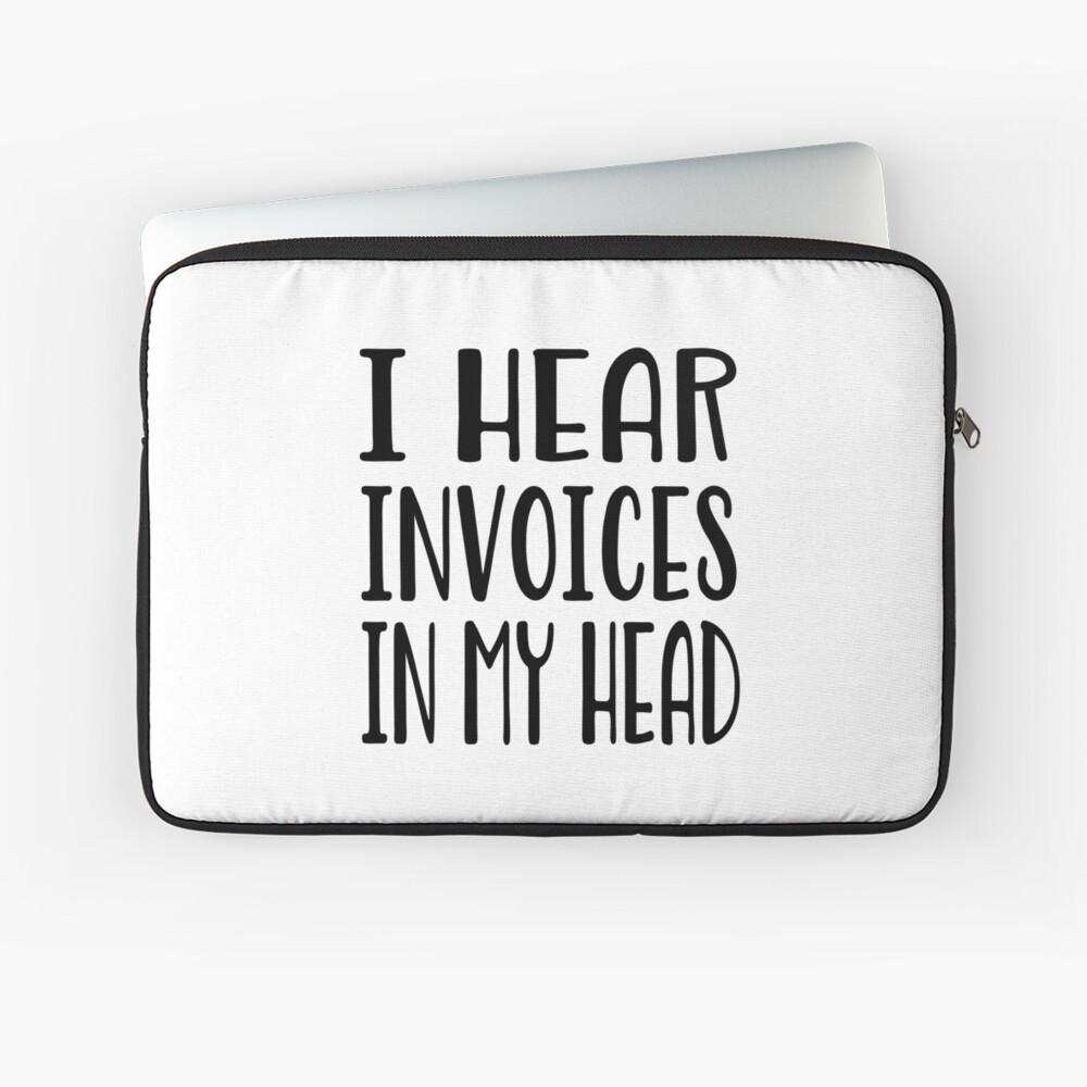 Ich höre Rechnungen in meinem Kopf - lustiges Rechnungshemd Laptoptasche