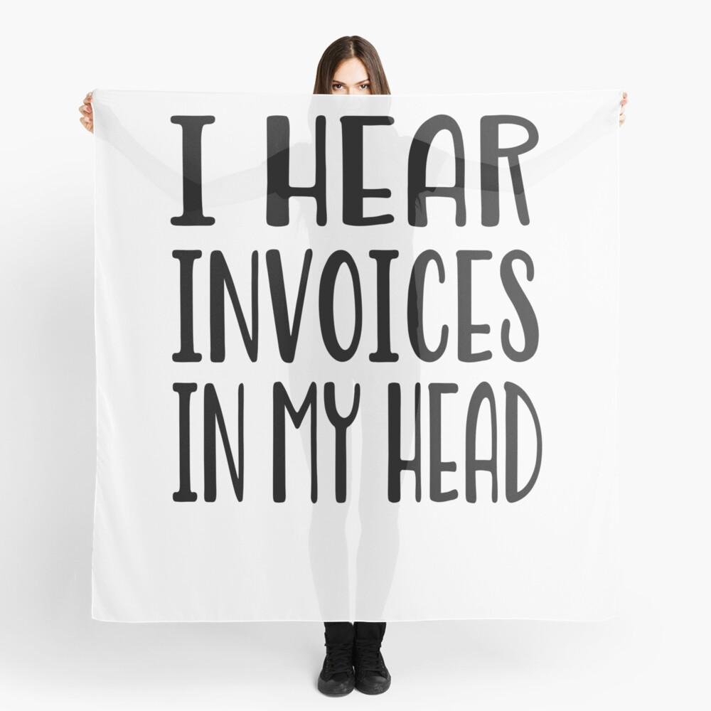 Ich höre Rechnungen in meinem Kopf - lustiges Rechnungshemd Tuch