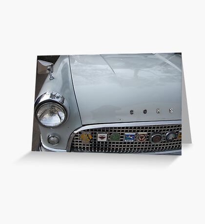 Ford Consul and the Medals of Honour. Greeting Card