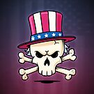 Uncle Sam Skull by zoljo